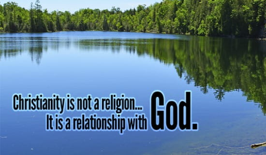 Our religion is really our relationship with GOD! ecard, online card