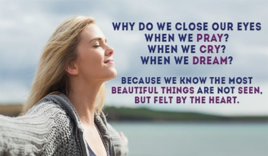 Why do we close our eyes? ecard, online card