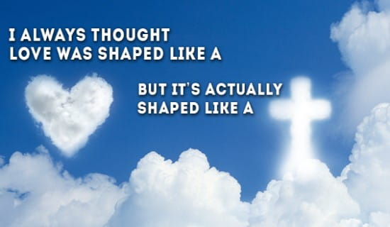 Love has always been shown through the CROSS ecard, online card