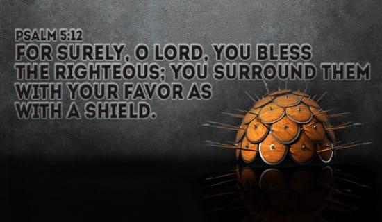 Psalm 5:12 ecard, online card
