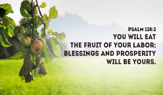 Psalm 128:2 ecard, online card