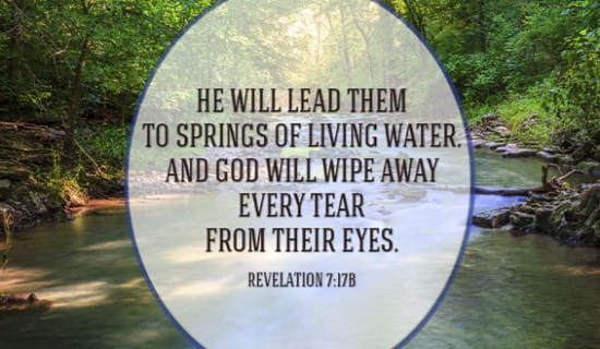 Revelation 7:17b ecard, online card