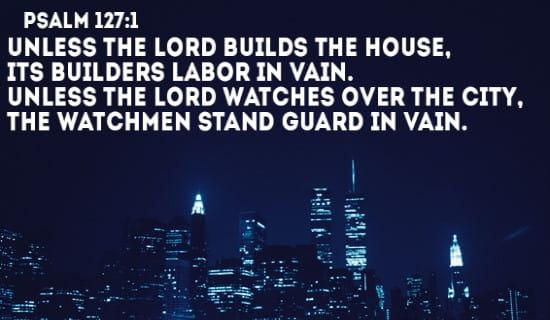 Psalm 127:1 ecard, online card