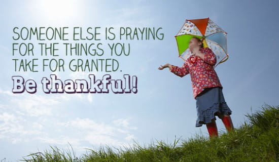What are you thankful for? ecard, online card