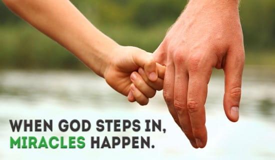 True/False: God still performs miracles today ecard, online card