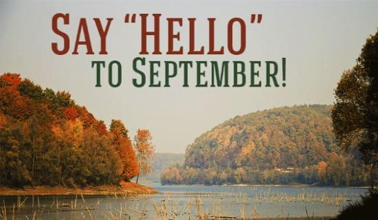 Helloooooo September!!! ecard, online card