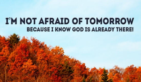 What do you think God has in store for you tomorrow? ecard, online card