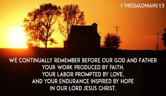 1 Thessalonians 1:3 ecard, online card