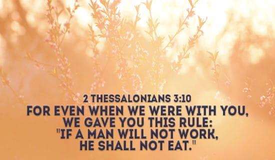 2 Thessalonians 3:10 ecard, online card
