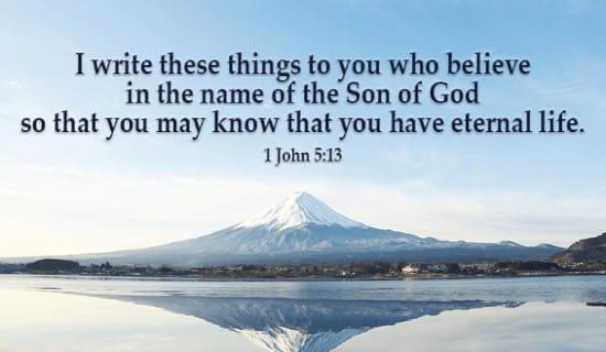 1 John 5:13 ecard, online card