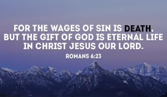 Romans 6:23 ecard, online card