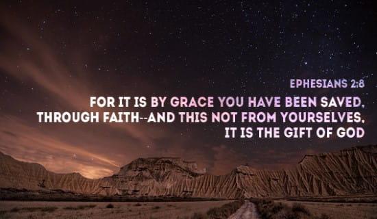 Ephesians 2:8 ecard, online card