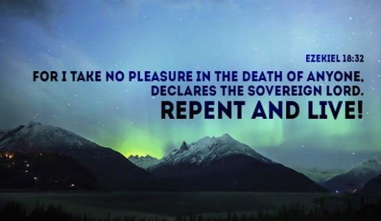 Ezekiel 18:32 ecard, online card