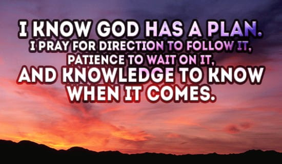 I know God has a plan ecard, online card
