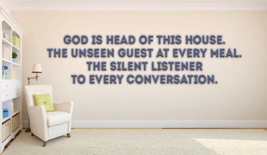 God is head of this house! ecard, online card