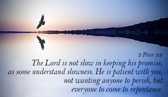 2 Peter 3:9 ecard, online card