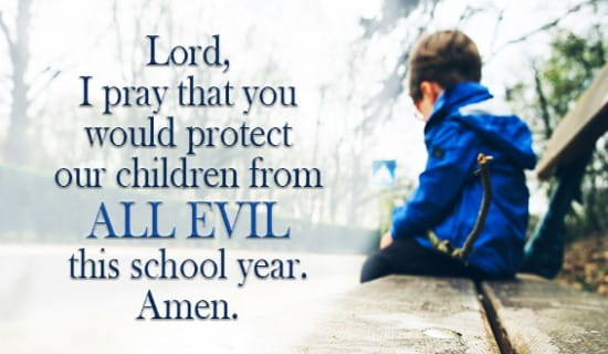 Protect our Children this school year, Lord ecard, online card