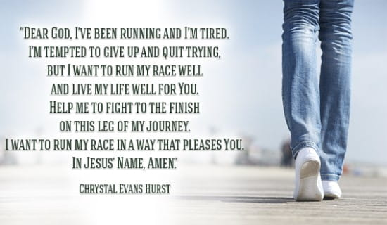 I've been running, but I want to run my race well, Help me! ecard, online card