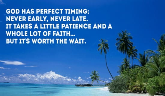 God has PERFECT Timing ecard, online card