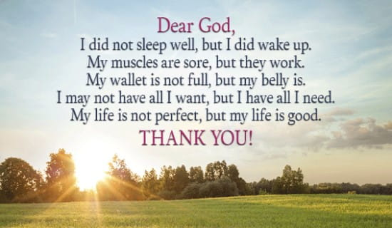Dear God, Thank you for the my life ecard, online card
