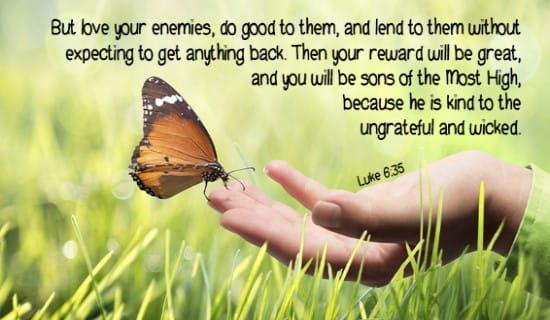 Luke 6:35 ecard, online card