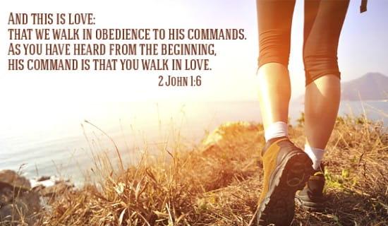 2 John 1:6 ecard, online card