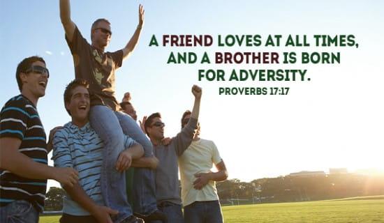 Proverbs 17:17 ecard, online card