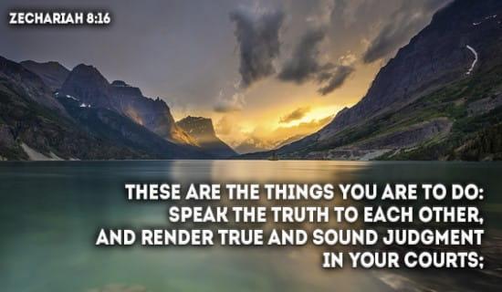 Zechariah 8:16 ecard, online card