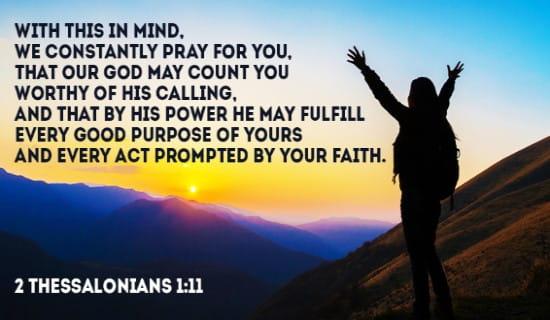 2 Thessalonians 1:11 ecard, online card