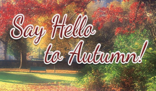 Hello To Autumn ecard, online card