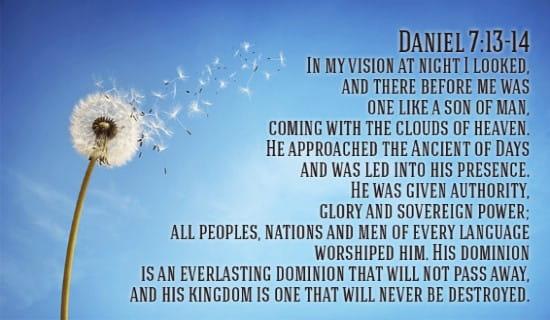 Daniel 7:13-14 ecard, online card