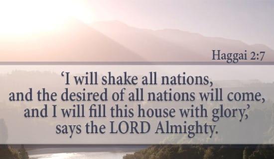 Haggai 2:7 ecard, online card