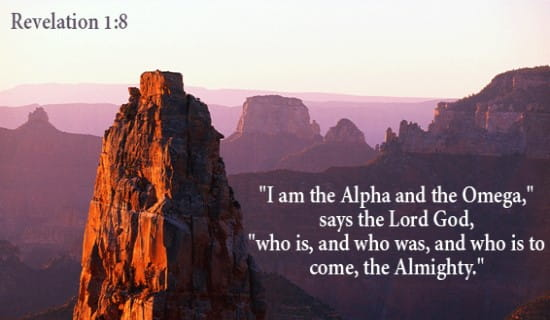 Revelation 1:8 ecard, online card