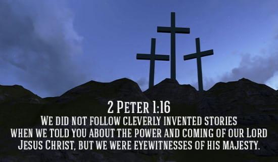 2 Peter 1:16 ecard, online card