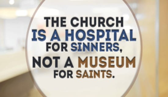 The church is a hospital for sinners ecard, online card