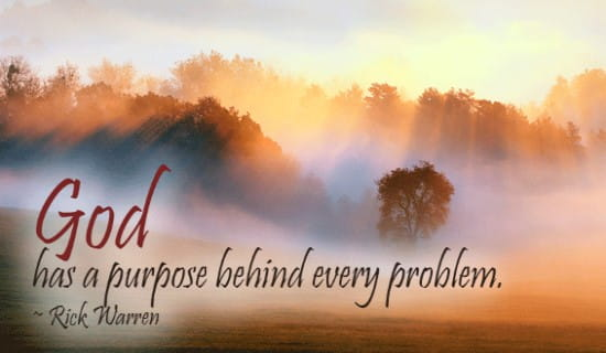 God has a PURPOSE ecard, online card