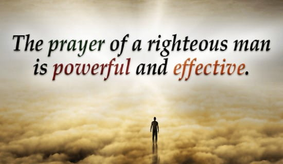 The Prayer of a Righteous Man ecard, online card