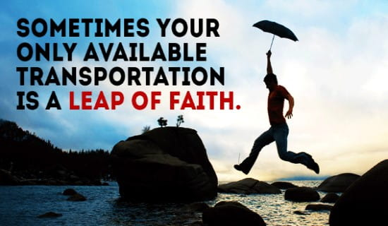 Leap of Faith ecard, online card