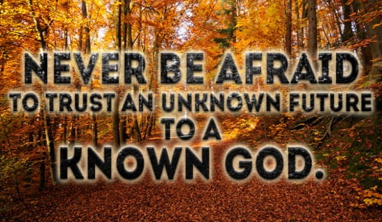 Never be Afraid to trust God ecard, online card