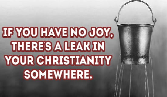 You might have a leak in you Christianity ecard, online card