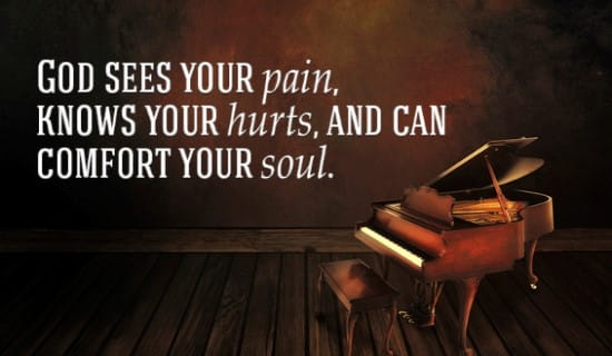 God sees your pain ecard, online card