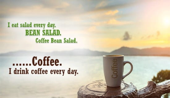 Coffee Bean Salad ecard, online card