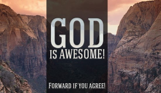 God is Awesome ecard, online card