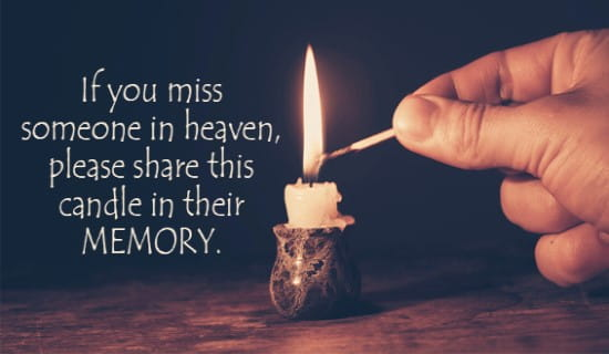 Memory Candle ecard, online card