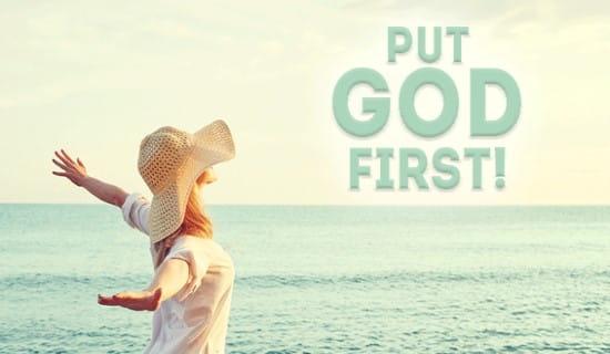 Put God First ecard, online card
