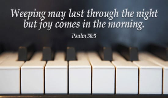 Psalm 30:5 ecard, online card
