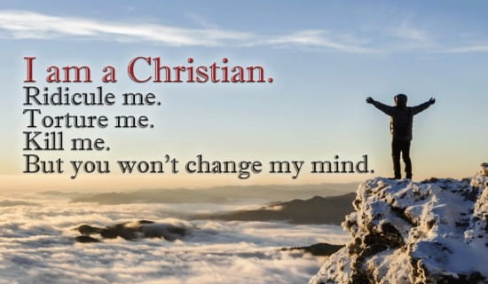 I AM A CHRISTIAn ecard, online card