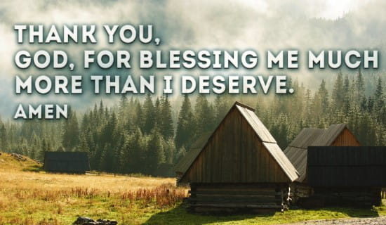 Thank you for your blessings ecard, online card