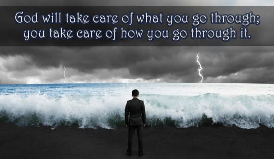 God will take care of what you go through ecard, online card