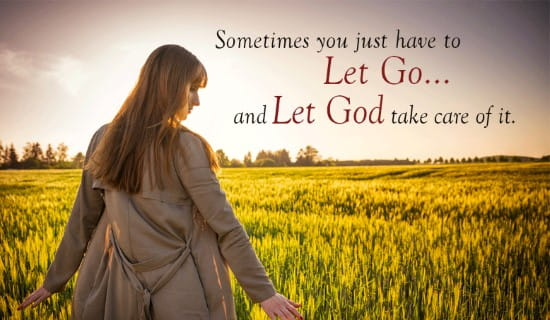 Let Go, and Let GOD ecard, online card